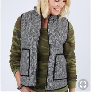 NWOT Honey Punch Herringbone Vest SIZE SMALL